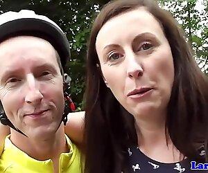 Assucked mature brit cumsprayed on ass