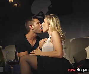 Big tittied glam euro blonde ass fucked