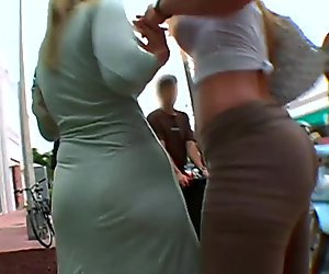 2 Blonde PAWG's on the street