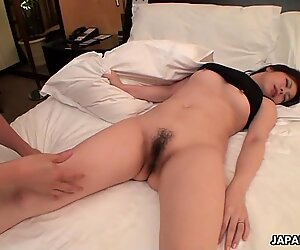 Lovely exotic girl with hairy pussy