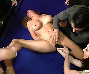 Darling acquires rough pussy punishment in public