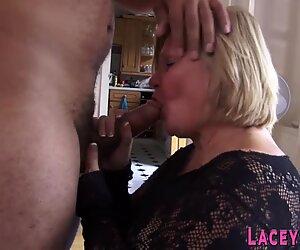 Fucked grandmother sucks black cock
