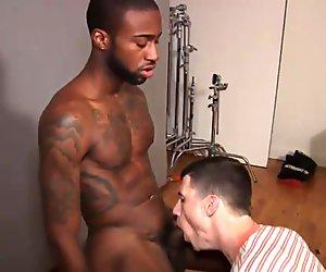Hot Rod Gets His Massive Ebony Cock Drained