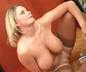 Large tits chick charms a ramrod with riding